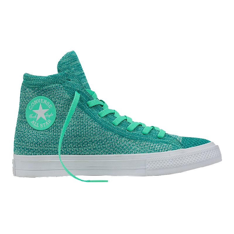 dcd29bba8b4c8 Converse Chuck Taylor All Star Hi x Nike Flyknit Shoes - Green White  (888754440910