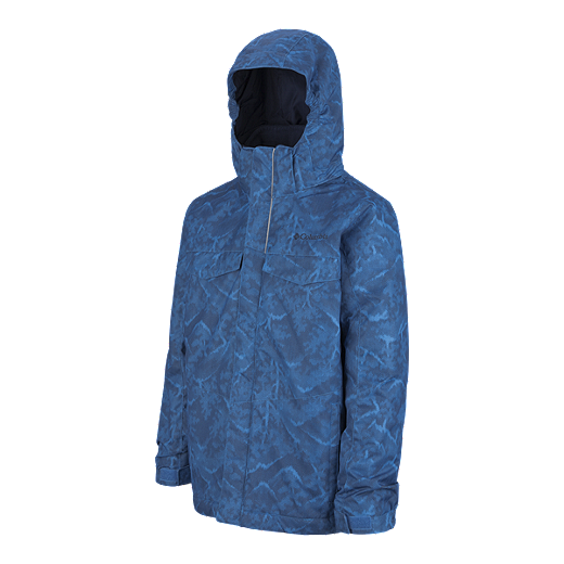6d0983a17 Columbia Boys' Bugaboo Interchange 3 In 1 Winter Jacket - PENINSULA MTN  PRINT/ NAVY