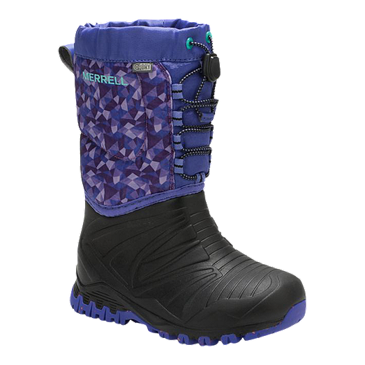 28baf072777 Merrell Girls' Snow Quest Lite Waterproof Preschool Winter Boots - Purple/Black  | Sport Chek