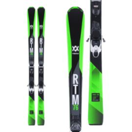 Völkl RTM 76 Men's Alpine Skis 2017/18 & Marker VMotion 10 GW Black/White Ski Bindings