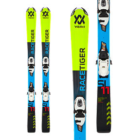 Völkl Racetiger Junior Alpine Skis 2017/18 & Marker 4.5 VMotion Junior White/Black Ski Bindings