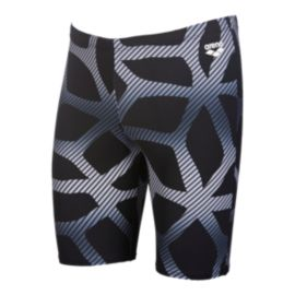 Arena Men's Spider Jammer Swim Short - Black/White