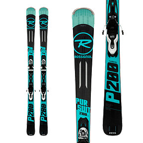 Rossignol Pursuit 200 Carbon Xpress Men's Skis 2017/18 & LOOK XPRESS 10 B83 Ski Bindings Black/White