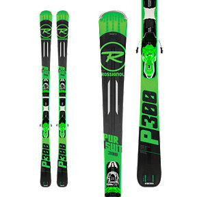 Rossignol Pursuit 300 Men's Skis 2017/18 & LOOK Xpress 10 B83 Ski Bindings Black/Green