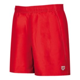 Arena Fundamentals Men's Boxer Swim Shorts - Red