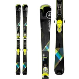 Rossignol Famous 2 Xpress Women's Skis 2017/18 & LOOK Xpress 10 B83 Women's Ski Bindings Black/Lime
