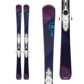 Rossignol Temptation 84 Xpress Women's Skis 2017/18 & LOOK Xpress 11 B93 Women's Ski Bindings White/Sparkle