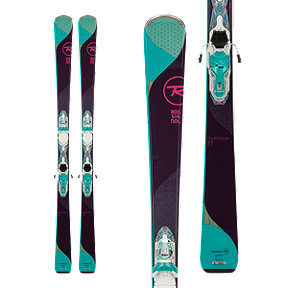 Rossignol Temptation 77 Xpress Women's Skis 2017/18 & LOOK Xpress 10 B83 Women's Ski Bindings White/Turquoise