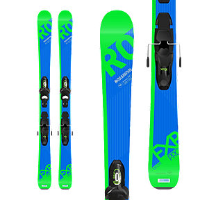 Rossignol Experience Pro Junior Skis 2017/18 & LOOK Kid-X 4 B76 Junior Ski Bindings Black/Green