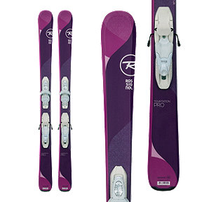 Rossignol Temptation Pro Junior Skis 2017/18 & LOOK Kid-X B76 White/Silver Junior Ski Bindings
