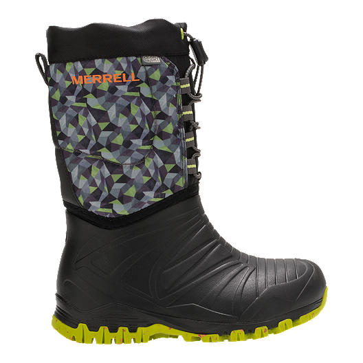 fb6f475c78b0 Merrell Kids  Snow Quest Lite Waterproof Preschool Winter Boots - Black