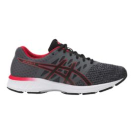 ASICS Men's Gel Exalt 4 Running Shoes - Grey/Black/Red
