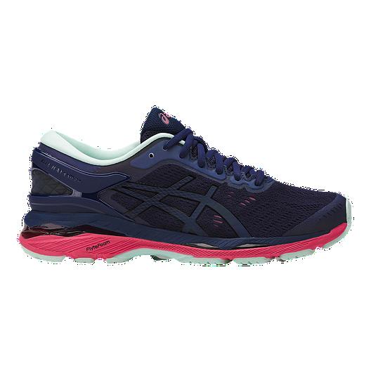 42d210e9cbea9 ASICS Women s Gel Kayano 24 LS Running Shoes - Dark Blue Black ...