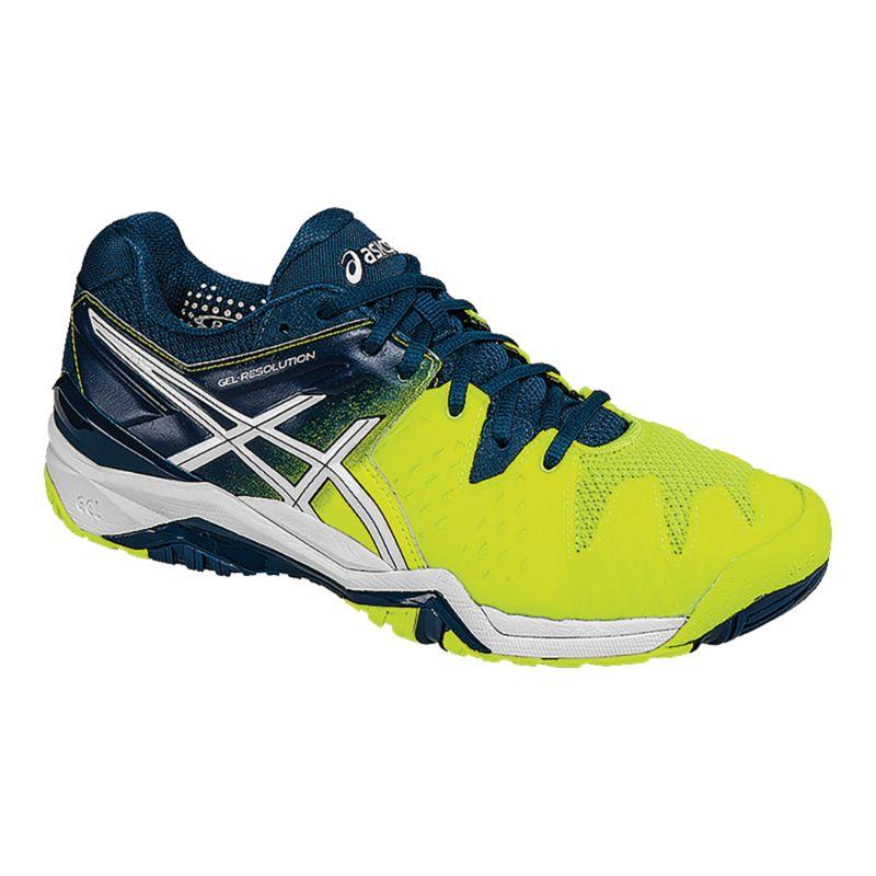 asics s gel resolution 6 tennis shoes yellow blue