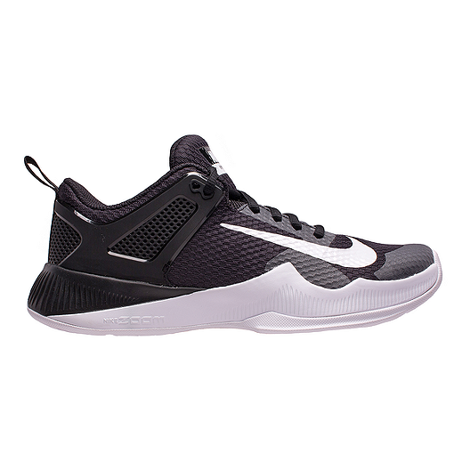 08c02b26dfb725 Nike Women s Air Zoom HyperAce Volleyball Court Shoes - Black White ...