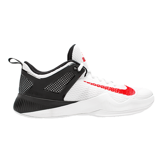 wholesale dealer f808a ae254 Nike Women s Zoom Hyperspace Volleyball Shoes - White Black Red   Sport Chek