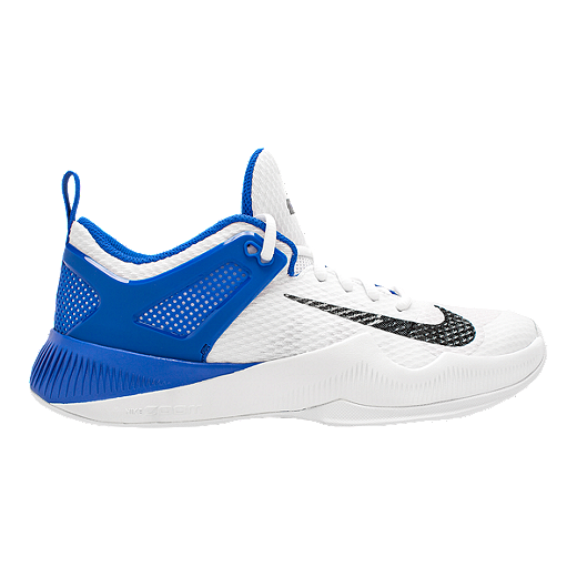 0a22a10a455ba Nike Women's Zoom Hyperspace Volleyball Shoes - White/Black/Blue -  WHITE/BLACK