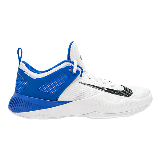 5497389de6fc9 Nike Women s Zoom Hyperspace Volleyball Shoes - White Black Blue ...