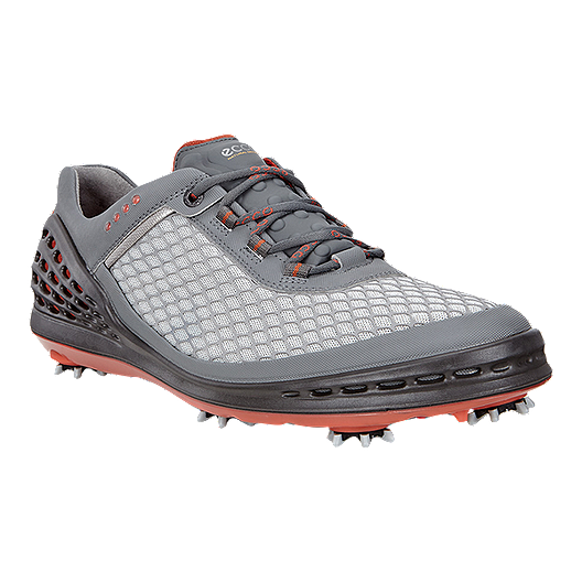 61893fe7 ECCO Men's Cage EVO Golf Shoes - Grey/Red