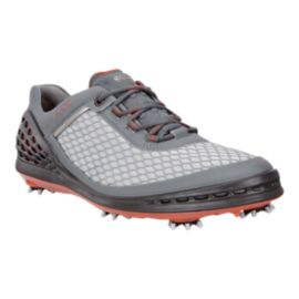 ECCO Men's Cage EVO Golf Shoes - Grey/Red