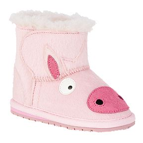 2107063477db Emu Toddler Girls  Creatures Winter Boots - Pig