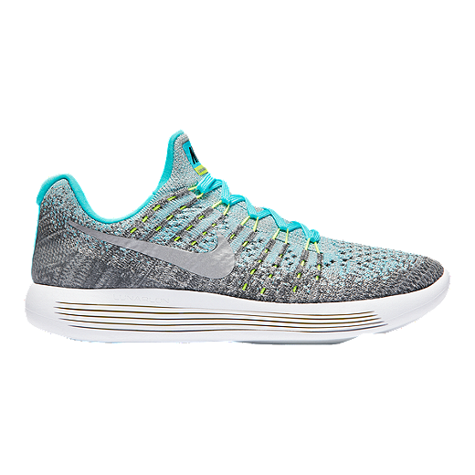 915a5f851e3e7 Nike Girls' Lunarepic Flyknit 2 Grade School Shoes - Grey/Silver/Blue -