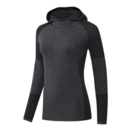 adidas Women's Climaheat Hooded Long Sleeve Running Top