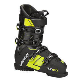 Lange SX 100 Men's Ski Boots 2017/18 - Black/Yellow