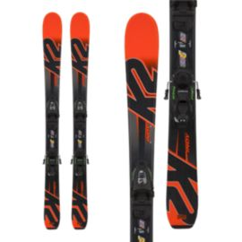 K2 Indy 4.5 Junior Skis 2017/18 & Marker FDT 4.5 Junior Ski Bindings 2017/18 - Black