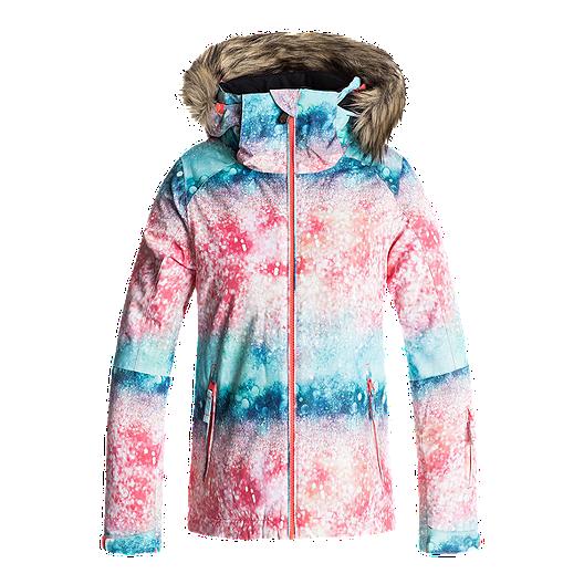 253d7db8dbf Roxy Girls  American Pie Print Insulated Winter Jacket
