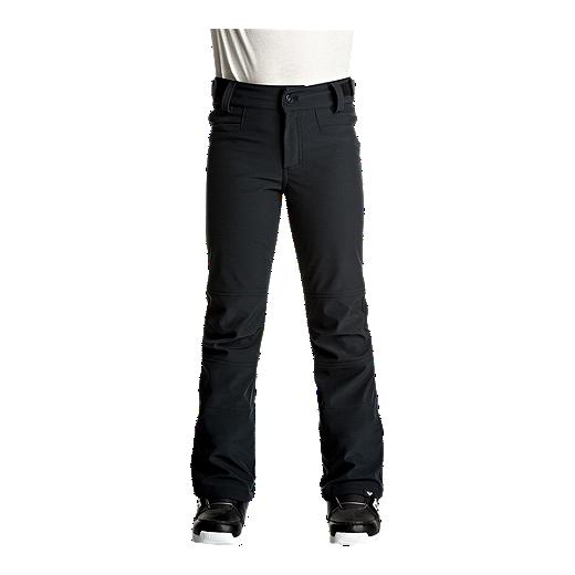 89d8b78028cf Roxy Girls' Creek Softshell Snow Pants - TRUE BLACK