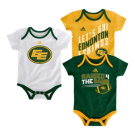 Edmonton Eskimos Infant Triple Time Creeper - 3-Pack