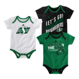 Saskatchewan Roughriders Infant Triple Time Creeper - 3-Pack