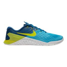 Nike Men's Metcon 3 Training Shoes - Blue/Electric Green