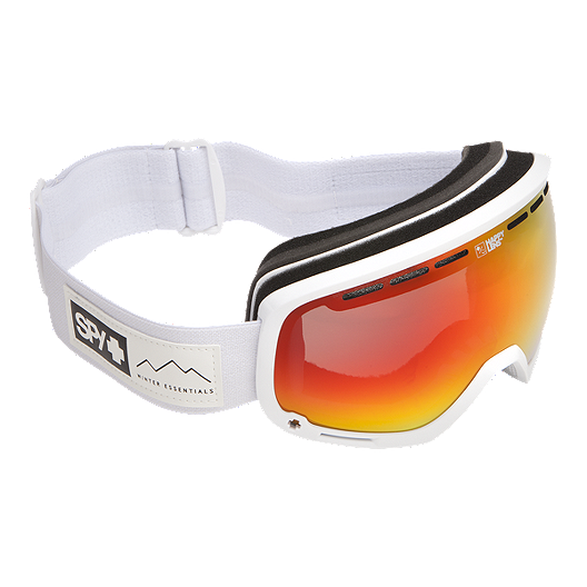d1071b0fe98c Spy Marshall Ski   Snowboard Goggle 2017 18 - Essential White with Happy  Grey Green Red Spectra Lens