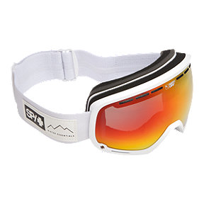 Spy Marshall Ski & Snowboard Goggle 2017/18 - Essential White with Happy Grey Green Red Spectra Lens