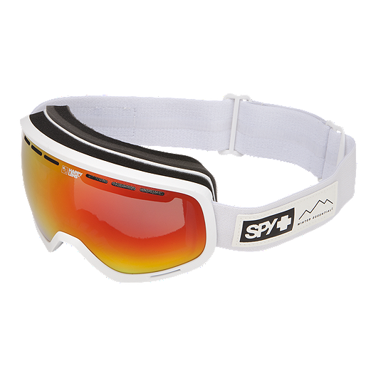 5730a5d242f3 Spy Marshall Ski   Snowboard Goggle 2017 18 - Essential White with Happy  Grey Green Red Spectra Lens