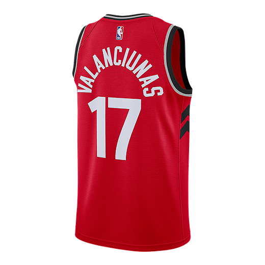 1cd2213143d Toronto Raptors Jonas Valanciunas Swingman Icon Basketball Jersey - RED