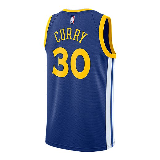 a70ed014143 Golden State Warriors Stephen Curry Swingman Icon Basketball Jersey - BLUE