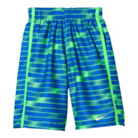 Nike Swim Boys' Blurred 9 Inch Volley Swim Shorts