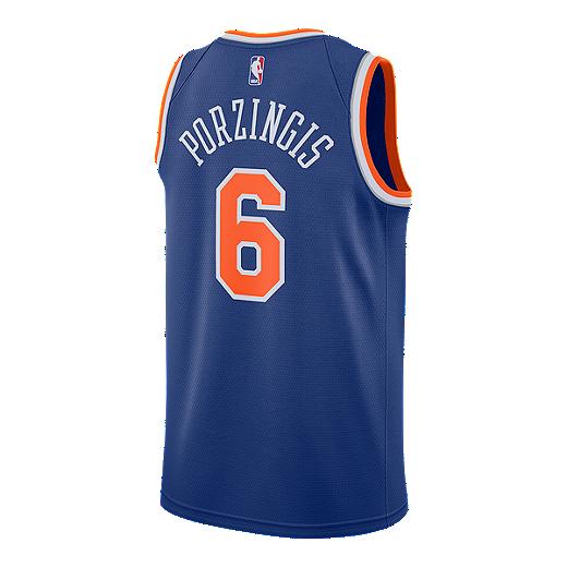 huge discount e8bcd 78fe8 New York Knicks Kristaps Porzingis Swingman Icon Basketball Jersey