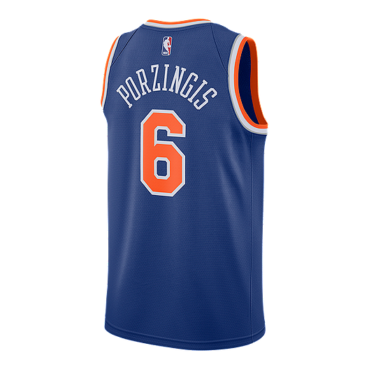 31eb39863 New York Knicks Kristaps Porzingis Swingman Icon Basketball Jersey ...