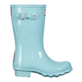 Hunter Girls' Original Gloss Rain Boots - Mint