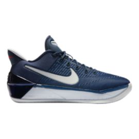 Nike Boys' Kobe A.D. Grade School Basketball Shoes - Navy/Platinum