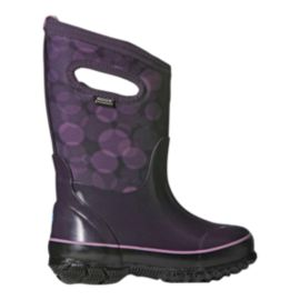 Bogs Girls' Classic Rain Drops Winter Boots - Purple