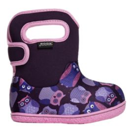 Bogs Toddler Girls' Classic Owls Boots - Purple