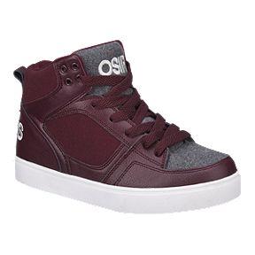 22830f0e46 Osiris Kids' Hipster Grade School Skate Shoes - Burgundy/Grey/White