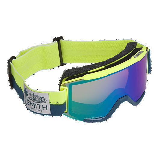 5ada237f72b Smith Squad Acid Resin Ski   Snowboard Goggles with ChromaPop Everyday  Green Mirror Lens