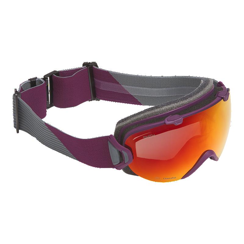 f7349ee398 Smith I OS Grape Split Women s Ski   Snowboard Goggles with Chromapop Sun  Red Mirror Lens