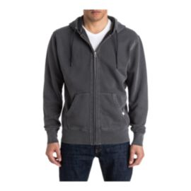 Quiksilver Men's The Zip Thru Full Zip Hoodie - Tarmac